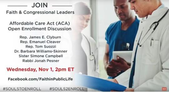Faith and Congressional Leaders ACA Open Enrollment Discussion feature image
